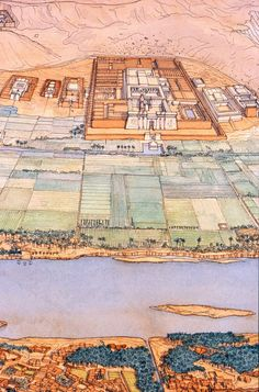 Egypt - Thebes West Polymorphose - Nile Valley - The Ramesseum in front of Luxor Luxor Temple, Pyramid Of Djoser, Ancient Egyptian Architecture, Le Sphinx, Egypt Map, Architecture Concept Drawings, 17th Century Art, Valley Of The Kings, Ancient History