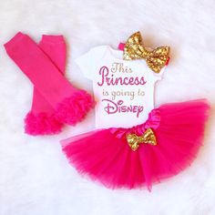 Squad Goals Disney Outfit Disney World by KennedyClairesCloset First Birthday Outfit Girl, 1st Birthday Tutu, First Birthday Shirts, Birthday Ideas, Disney World Outfits, Girls Coming Home Outfit, Take Home Outfit, Disney Girls, Baby Disney