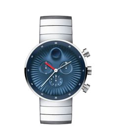 Movado | Movado Edge men's large stainless steel watch with blue aluminum dial | Movado US