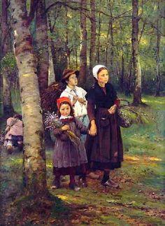 Je to About Time: Portréty a Žánrové obrazy české umělce Václava Brožíka 1851-1901