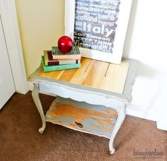 DIY Furniture : DIY Replace a Glass Table Top with Wood Planks