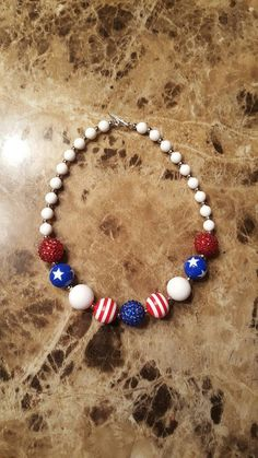 Check out this item in my Etsy shop https://www.etsy.com/listing/278901560/ready-to-ship-red-white-blue-bubblegum