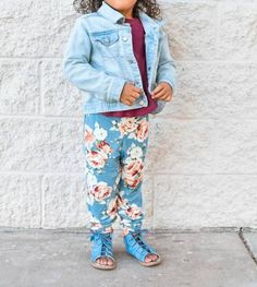 Unisex Kids Joggers Pattern by Ellie and Mac | PDF Sewing Patterns for Girls | Girl's Jogging Pants | Toddler Fashion | Fall Fashionista | Girl Bottoms