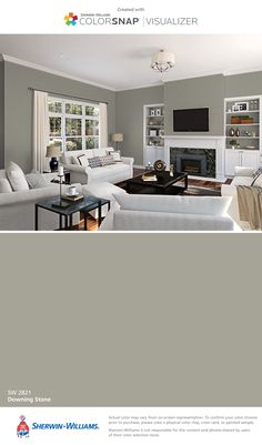 I found this color with ColorSnap® Visualizer for iPhone by Sherwin-Williams: Downing Stone (SW 2821).
