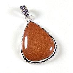 Christmas Sale !! Sunstone Gemstone 925 Silver Plated Necklace Pendant Jewelry #Shrijewelers_7 #Pendant