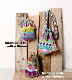 #mochila look a like #tas #haken van #phildar #phil #coton4 waarvan alle kleuren bij #crcouture #rhoon verkrijgbaar zijn!