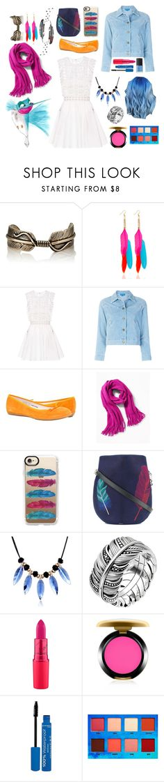 """""""Flit"""" by aisling-kells ❤ liked on Polyvore featuring Pamela Love, self-portrait, M.i.h Jeans, Casetify, Paul Smith, WithChic, Thomas Sabo, MAC Cosmetics, Rimmel and Lime Crime"""