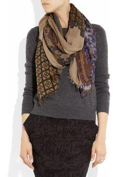 Etro|Printed modal and cashmere-blend scarf|NET-A-PORTER.COM