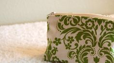 Sassy zipper pouch - my fav shade of Green from WithMuchLove on etsy.
