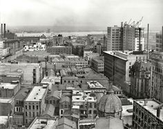 """Circa 1910. """"New Orleans and Mississippi River from Hotel Grunewald."""" The business side of the Big Easy. Detroit Publishing glass negative.  Shorpy Historical Photo Archive :: Dixie Calendar: 1910"""