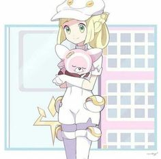 Lillie and Stufful. Stufful and Bewear are hands down the best Gen 7 Pokémon. T… Lillie and Stufful. Stufful and Bewear are hands down the best Gen 7 Pokémon. The others are…meh. Pikachu, Lusamine Pokemon, Pokemon Moon, Pokemon People, Pokemon Fan Art, Cute Pokemon, Chibi, Pokemon Pictures, Fanart