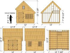 Walter Shed Plan - Garden Shed Wooden Storage Sheds, Shed Storage, Shed Conversion Ideas, Prefabricated Sheds, Shed Windows, Tyni House, Clutter Solutions, Diy Shed Plans, Shed Kits