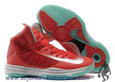Authentic Nike 2013 Womens Lunar Hyperdunk University Red Silver White Jade Basketball Shoes For Wholesale