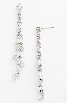 Nadri 'On The Rocks' Linear Drop Earrings available at #Nordstrom