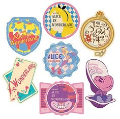 ,Disney Travel Sticker Alice's Adventures in Wonderland Eight Set,Collectible listed at CDJapan! Get it delivered safely by SAL, EMS, FedEx and save with CDJapan Rewards! Kawaii Stickers, Laptop Stickers, Disney Trips, Disney Travel, Alice In Wonderland Tea Party, Adventures In Wonderland, Disney Scrapbook, Photo Wall Collage, Printable Stickers