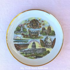 Utah state souvenir plate available at Etsy Thrift Store Addiction