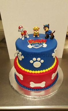 Bolo Do Paw Patrol, Paw Patrol Torte, Paw Patrol Pinata, Paw Patrol Cupcakes, Paw Patrol Birthday Cake, 4th Birthday Cakes, Card Birthday, Birthday Greetings, Birthday Ideas
