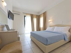 Tosca Beach hotel, Kavala, Greece, member of Top Peak Hotels Beach Bungalows, Beach Hotels, 4 Star Hotels, Greece, Stars, Bed, Furniture, Home Decor, Greece Country