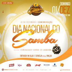 Job: E-flyer (Dia Nacional do Samba), Cliente: Boteco do Fumaça, Software: Photoshop CS6.