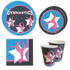Gymnastics Standard Party Packs (For 16 Guests) #gymnastics #party #plates  sc 1 st  Pinterest & Nautical Plastic Plates. Set of 4 Melamine Plates - 10.5