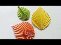 Tutorial - simple paper leaf. - YouTube