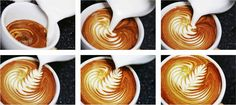 latte art! I want this in our shop. From caffe luxxe - Italian coffee (ready to drink)