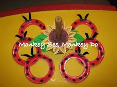 How cute is this!  Ladybug Ring Toss game