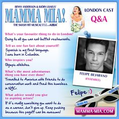From Colombia to a Greek Island paradise in London's West End! 😄 Meet Felipe Bejarano, from the MAMMA MIA London ensemble! #MammaMiaMusical #MammaMiaLondon  #MeetTheCast www.mamma-mia.com