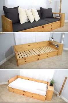 10 Easy Ways To Build A DIY Couch Without Breaking The Bank 10 façons faciles de construire un canapé bricolage sans se ruiner Diy Couch, Diy Furniture Couch, Diy Outdoor Furniture, Furniture Projects, Furniture Plans, Furniture Makeover, Furniture Design, Refurbished Furniture, Wooden Furniture