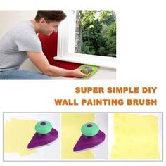 Paint Roller Tray Sponge Pads Kits Household Painting Brush Wall Decorative Hand Tools Home Room DIY Hand Tool Set Diy Wall Painting, Types Of Painting, Painting Tools, House Painting, Diy Wand, Diy Simple, Easy Diy, Mur Diy, Galaxy Bath Bombs