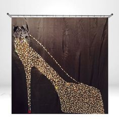 Black Shower Curtain-Gold Rhinestone Shower by LNikkoleHome ...