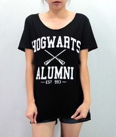 HOGWARTS ALUMNI Harry Potter Shirt Softly/Lightly by Promegranate, $15.99