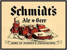 Vintage Philadelphia Print - Schmidts of Philadelphia Brewery - Northern Liberties via Etsy