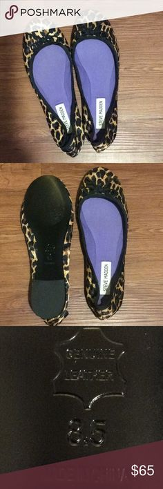 New. Steve Madden ballet flats. Leopard print ballet flats. Satin or Satin-like fabric. Never worn. Steve Madden Shoes Flats & Loafers