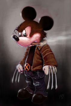San Antonio artist Alfredo Lopez Jr.'s spot-on Wolverine Mickey,  has the mouse doing his best Hugh Jackman