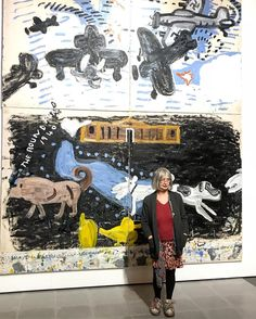 The inimitable Rose Wylie opening her show Quack Quack. Rose Wylie, Royal College Of Art, National Museum, Artist At Work, New Art, Painting & Drawing, Contemporary Art, Ruth Asawa, Quack Quack