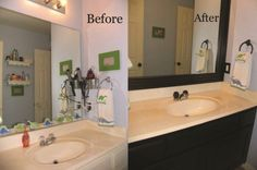 Spray paint your outdated fixtures by spraying with oil rubbed bronze paint