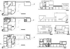 Saltzman house 2D dwg - R. Meier