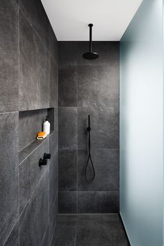 Floor to ceiling tiles - adding a masculine yet contemporary touch to our master ensuite. Bathroom Tile Designs, Bathroom Design Luxury, Bathroom Layout, Modern Bathroom Design, Small Bathroom, Remodled Bathrooms, Colorful Bathroom, Dyi Bathroom, Bathroom Trends
