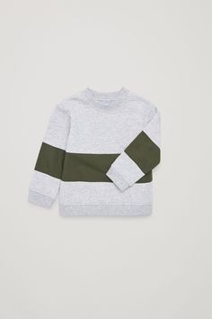 c897da33aecd COS image 3 of Woven-panelled jersey sweatshirt in Light Grey
