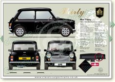 Mini 30 Special Edition 1989 classic car portrait print