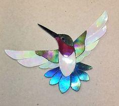 PRECUT-STAINED-GLASS-KIT-MALE-HUMMINGBIRD-MOSAIC-INLAY-GARDEN-STONE-CRAFT