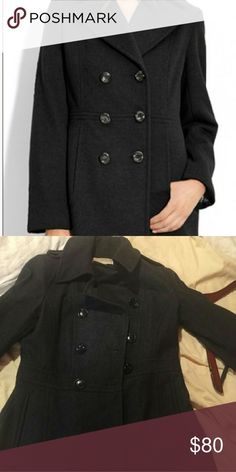 Michael Kors Peacoat Classy Black Peacoat! Perfect for casual and dressy outings. In perfect condition. Michael Kors Jackets & Coats Pea Coats