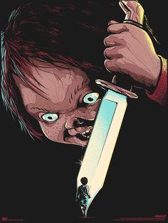 Chucky Film Posters by Matt Ryan Tobin Horror Movie Posters, Horror Icons, Movie Poster Art, Horror Art, Film Posters, Classic Horror Movies, Iconic Movies, Arte Pulp Fiction, Chucky Movies