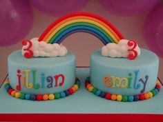 Image result for birthday cakes for twins turning 3