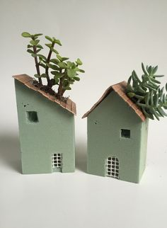 Foam Block House Planters - Think Crafts by CreateForLess