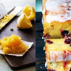 Cranberry Lemon Cake with Lemon Icing