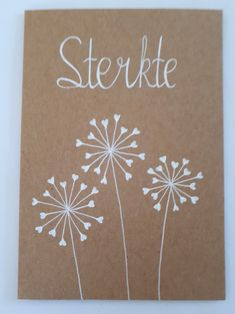 Sterkte by Astrid Hand Lettering Alphabet, Doodle Lettering, Bullet Journal Decoration, Happy Paintings, Doodle Designs, Flower Doodles, White Ink, Creative Cards, Diy Cards