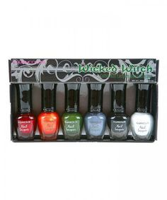 Klean Color Wicked Witch Nail Polish Set