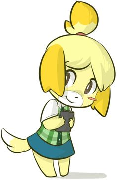 Isabelle aka the cutest little fuzz in the gaming universe sorrynotsorry